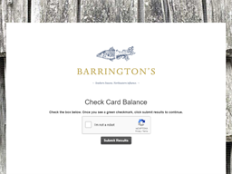 Barrington's Restaurant gift card balance check
