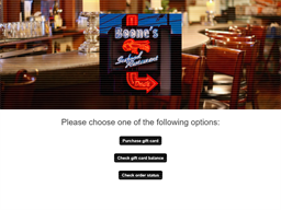 Boone's Fish House & Oyster Room gift card purchase