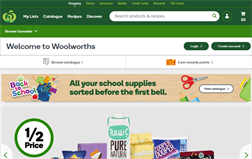 Woolworths Supermarkets gift card balance official website