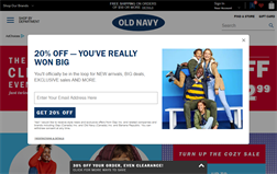 Old Navy gift card balance official website