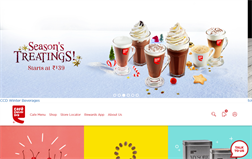 Cafe Coffee Day gift card balance official website